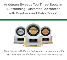 Andersen Sweeps JD Power